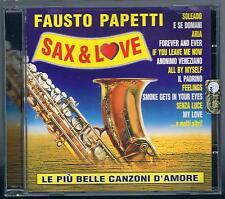 FAUSTO PAPETTI SAX & LOVE CD F.C.