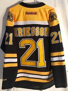 Reebok Premier NHL Jersey Boston Bruins Louie Eriksson Black sz M
