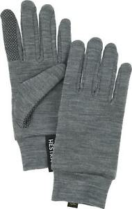 2020 Adult Hestra Grey Merino Touch Point Liner size 10 glove 34440 Winter Warm
