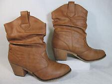 Charles Albert SP08017 Cowboy Slouch Fashion Boots Tan Sz 11-M