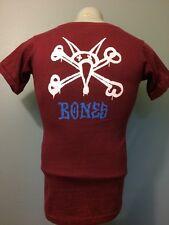 Vtg 70s 80s Powell Peralta Rat Bones Brigade Skateboard T-Shirt Mens S Skate Red