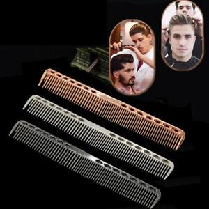 Men's Aluminum Metal Cutting Comb Hair Hairdressing Barbers Salon Combs Tools