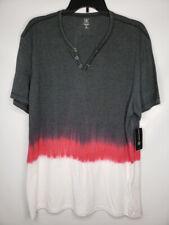 INC International Concepts DIP DYE TEE Short Sleeve T-Shirt Black XL # 24
