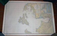CARTA NAUTICA COLORI NAUTICAL MAP LEVKAS PATRAI ZAKYNTHOS GRECIA GREECE 1966
