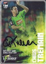 ✺Signed✺ 2014 2015 SYDNEY THUNDER Cricket Card CHRIS TREMAIN Big Bash League