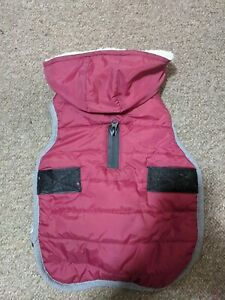 Reflective Waterproof Small Dog Coat, Worn Once, Fleece Lined, 42-50cm, Red