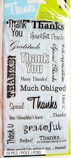 Thank You Words Card Sentiments Clear Acrylic Stamp Set by Inkadinkado Stamps