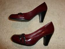 Kim Rogers RED SHOES WOMEN'S SIZE 7 M  (3 INCH HEEL)