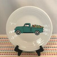 Fiestaware Turquoise Spring Floral Truck Lunch Plate Fiesta 9 in Luncheon NWT