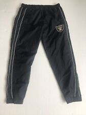 NFL Raiders Black Track Suit Polyester Bottoms 2XL