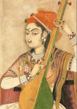 Postcard A Lady Playing the Tanpura (detail) India c1735 MMA NY MINT