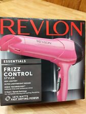 *REVLON Essentials Ionic 1875 Watt Frizz Control Lightweight Styler Hair Dryer*