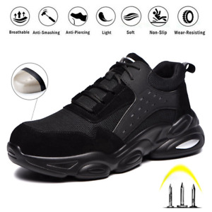 Men's Safety Shoes Work Trainers Women's Steel Toe Cap Lightweight Hiking Boots
