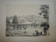 CORBOULD (1815-1905) GRANDE LITHO ORIGINALE CHATEAU EGLINTON KILWINNING ECOSSE