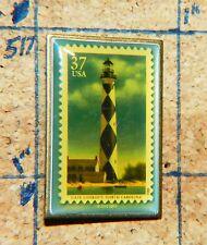 "CAPE LOOKOUT NORTH CAROLINA USPS 2002 37¢ METAL 1.25"" LAPEL PIN"