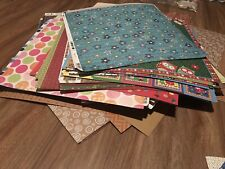 BULK LOT 100 SHEETS Assorted Plain/  PRINTS 12 x 12 Scrapbooking Paper