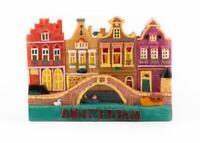 Amsterdam Holland Poly Magnet Häuser mit Brücken Niederlande Souvenir