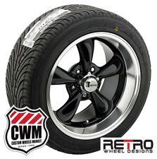 "17x8"" / 18x9"" inch Retro Black Wheels Rims Tires for Olds Cutlass F85 442 66-81"