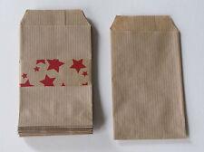 lot de 25 pochettes /sachets kraft 60gr  naturel 7x12cm de fabrication française