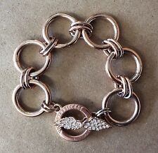 Fab!!! VICTORIA'S SECRET Rose Goldtone Chunky Chain Goldtone Toggle Bracelet