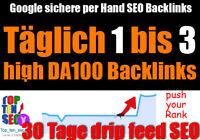 30 Tage manueller Linkaufbau täglich 3 High DA bis zu DA100 Backlinks