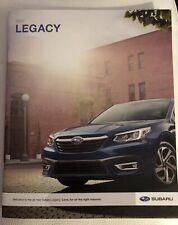 2020 SUBARU LEGACY 26-page Original Sales Brochure