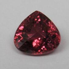 Natural Pink Tourmaline 3.49 ct. Pear Shape Checker Cut Bright Deep Pink Gem