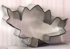 "NEW Metal MAPLE LEAF Canadian Flag COOKIE CUTTER 2.25 x 3.25"" x 1"""