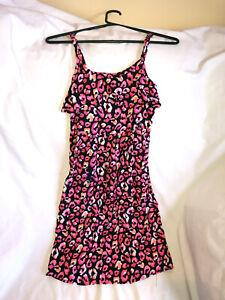 Justice Girls Size 14 Black / Pink Summer Sundress