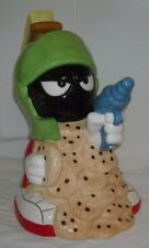 Warner Bros Marvin The Martian Guarding Cookies With Space Gun Cookie Jar - 1995