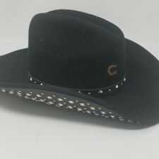 Charlie One Horse Studly Western Cowboy Hat black size 7 3/8  made in USA
