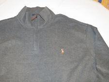 Polo Ralph Lauren 1/4 zip sweater shirt Big & Tall 3XB BIG Mens Bristol Heather