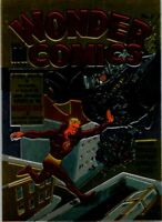1995 COMIC IMAGES THE GOLDEN AGE OF COMICS ALL-CHROMIUM PROMO CARD WONDER COMICS