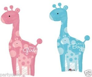 New Arrival Baby  Shower Party Dad Mum Baby Giraffe Supershape Foil Balloon