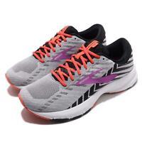 Brooks Launch 6 D Wide Grey Black Purple White Women Running Shoes 120285 1D