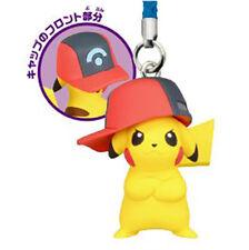 Pokemon Netsuke Mascot 20th Movie Ver. PIKACHU SINNOH HAT Strap Figure Go Phone