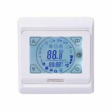 White Thermostat Programmable Touchscreen Electric / Water Underfloor Heating