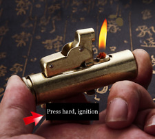 """high Quality """"squeeze action"""" Lighter Vintage rare Unusual Rare Lighters Brass"""