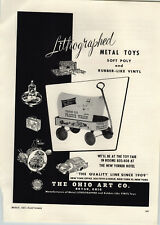 1957 PAPER AD The Ohio Art Toy Co Frontier Days Prairie Coaster Wagon