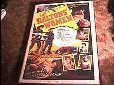 DALTONS WOMEN ROLLED 27X41 MOVIE POSTER '50 WESTERN