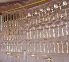 """CHRISTOFLE Ménagère métal argenté """" SPATOURS """" 77 pièces dont 24 couteaux"""