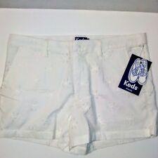 Keds White Eyelet Dressy Cotton 12 Inch Shorts Size 9 Retails $44.00 NWT