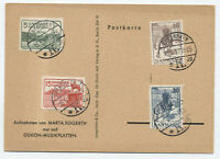1937 Denmark 25th anniversary Christian X set FDC #258-61 on card [S.166]