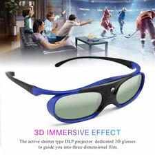 3D Glasses For DLP-LINK Projectors Active Shutter Acer/BenQ/Optoma, New