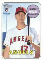 2018 Topps Heritage Baseball #600 Shohei Ohtani RC Angels Rookie Card
