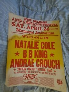 BB KING  NATALIE COLE CROUCH CARDBOARD BLUES    BOXING STYLE CONCERT POSTER