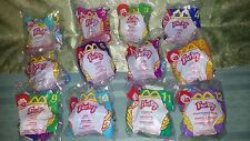 2000 McDonald's HAPPY MEAL TOYS FURBY COMPLETE SET OF 12, NEW / FACTORY SEALED