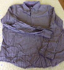 ARMANI JEANS Mens Dress Button Shirt~Size LARGE Gray Stripe~LOW WORLD SHIP!