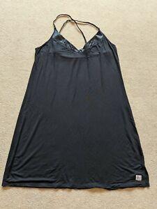 Calvin Klein Soft Black Night Dress Size L/G 12/14 Excellent Condition