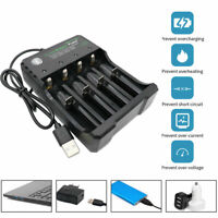 USB Intelligent 18650 Li-ion Battery 4.2V 4 Slots USB Plug Charger for Vape UK